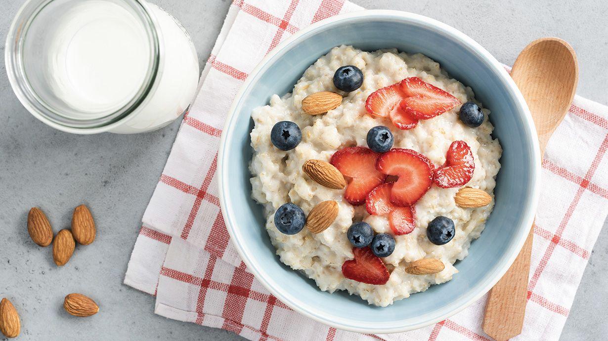 Receta de porridge con kéfir y avena