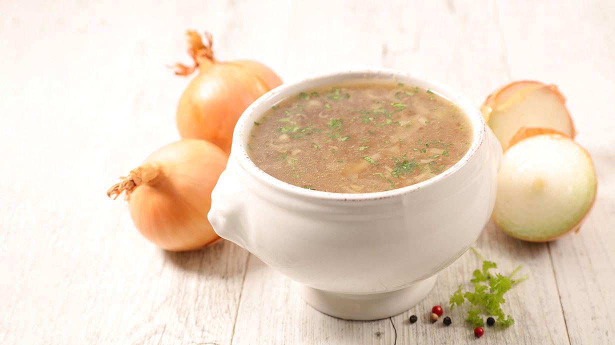 Sopa de cebolla y avena