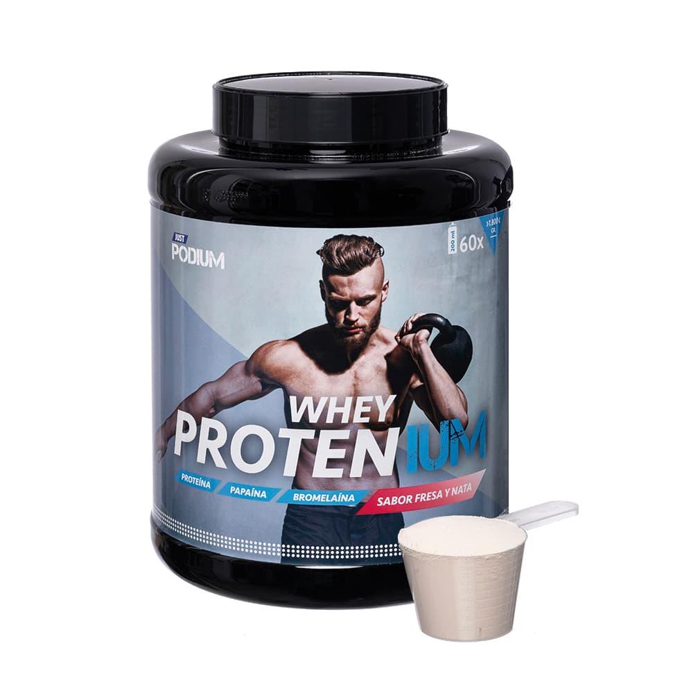 Proteinas sabor a fresa y nata whey protenium